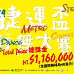 MRT Street Dance Festival to Kick-off! Total Prizes Reach NT$760,000!